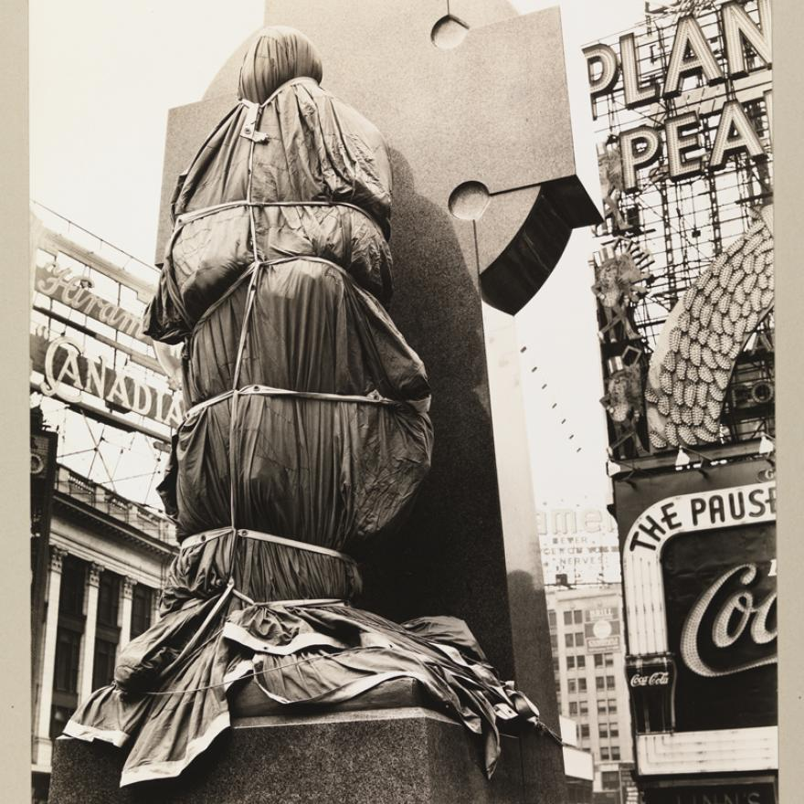 Berenice Abbott (1898-1991). Father Duffy, Times Square, April 14, 1937. Museum of the City of New York. 40.140.77