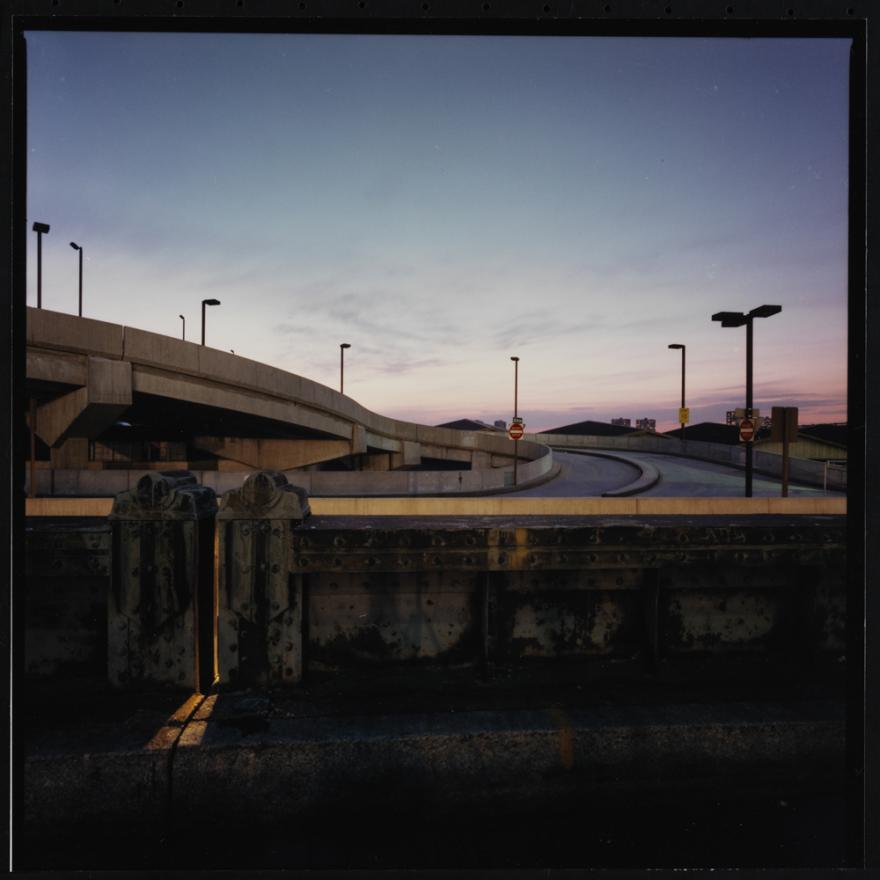 Jan Staller, Ramp at the Passenger Ship Terminal on the Hudson River, seen from the West Side Highway, 1978. Museum of the City of New York, 2015.5.12