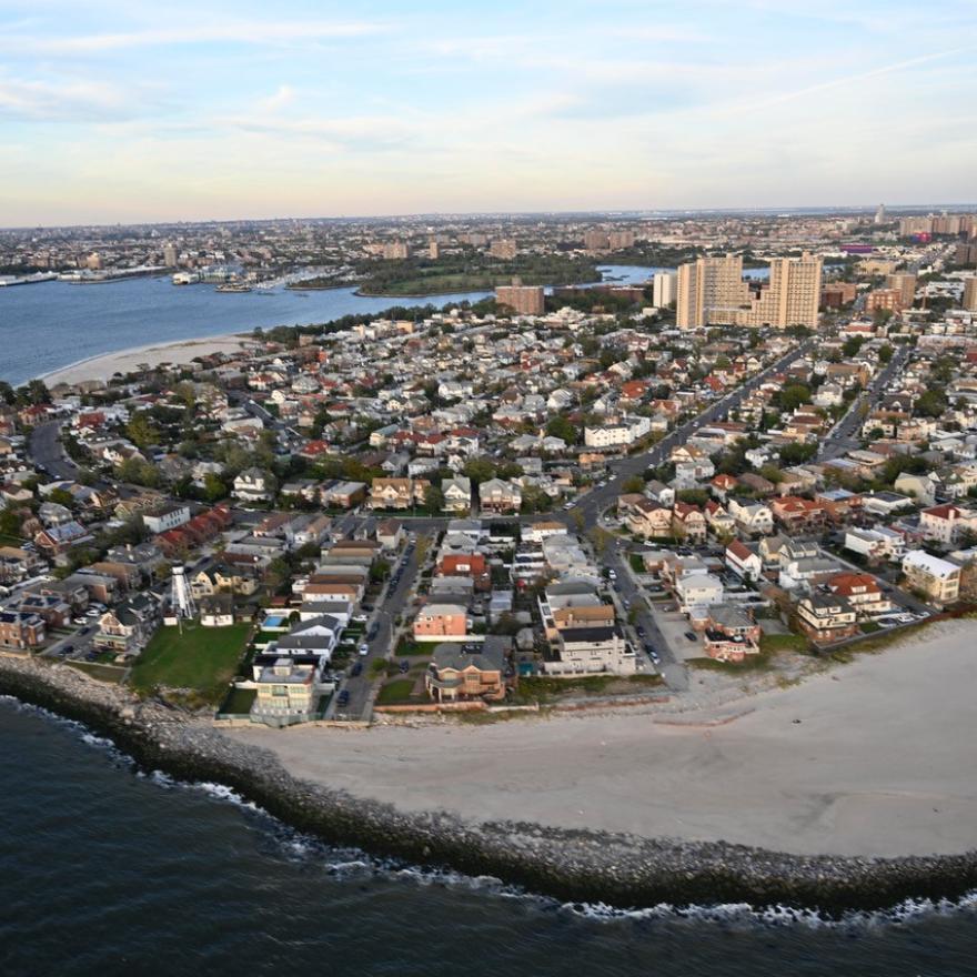 Os Rockaways após o furacão Sandy.