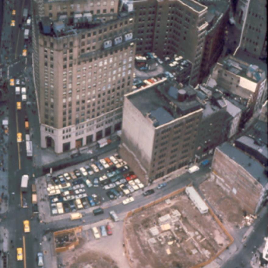 Stadt Huys Block excavation site, 1979