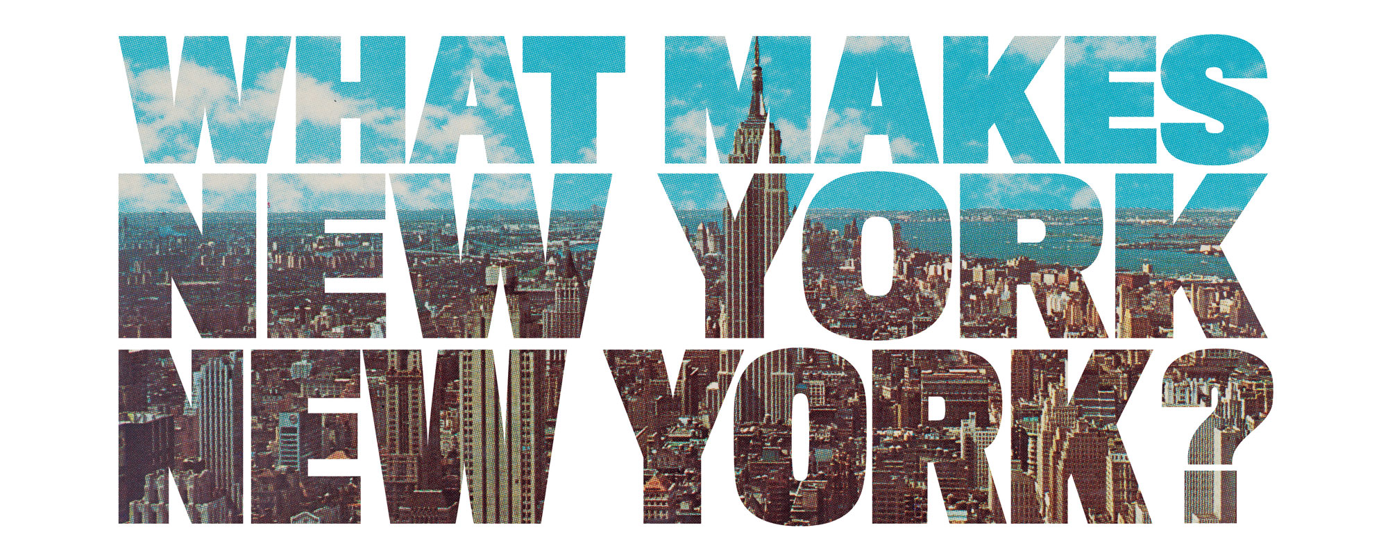 uma imagem do banner de What Make New York New York?