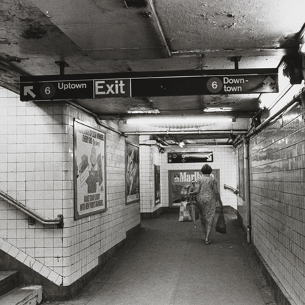 Subway station. ca. 1980. Museum of the City of New York. X2010.11.13587.